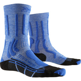 X-Socks Trek X Calcetines de lino Mujer, lake blue/opal black